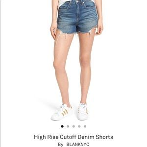 Blanknyc high rise shorts from Nordstrom